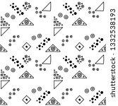 seamless vector geometrical... | Shutterstock .eps vector #1332538193