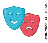 drama comedy masks | Shutterstock .eps vector #1332541436