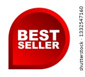red vector banner best seller | Shutterstock .eps vector #1332547160