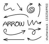 doodle arrow vector illustration | Shutterstock .eps vector #1332569903