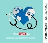 world health day logo icon... | Shutterstock .eps vector #1332574853