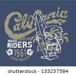 california surfer waiting for...   Shutterstock .eps vector #133257584