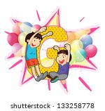 alphabet letter illustration on ... | Shutterstock .eps vector #133258778