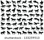 Big Set Of Horses Silhouettes...