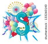 alphabet letter illustration on ... | Shutterstock .eps vector #133260140