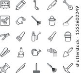thin line icon set   pen vector ...   Shutterstock .eps vector #1332602249