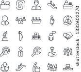 thin line icon set   escalator... | Shutterstock .eps vector #1332602270