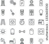thin line icon set   bulb...   Shutterstock .eps vector #1332603530