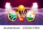 south africa vs india cricket... | Shutterstock .eps vector #1332617303