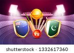 cricket tournament participant... | Shutterstock .eps vector #1332617360