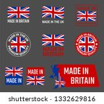 made in great britain  united... | Shutterstock .eps vector #1332629816