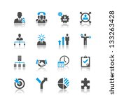business and management icons... | Shutterstock .eps vector #133263428
