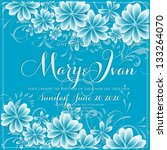 invitation or wedding card with ... | Shutterstock .eps vector #133264070