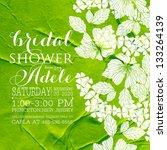 bridal shower invitation... | Shutterstock .eps vector #133264139