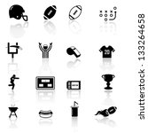 american football icons | Shutterstock .eps vector #133264658