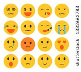 set of emoji isolated vector | Shutterstock .eps vector #1332662783