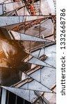 a chaotic texture of a modern...   Shutterstock . vector #1332668786