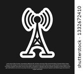 black antenna icon isolated on... | Shutterstock .eps vector #1332672410