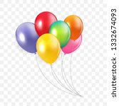 glossy happy birthday concept... | Shutterstock .eps vector #1332674093