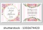 vector template for wedding... | Shutterstock .eps vector #1332674423