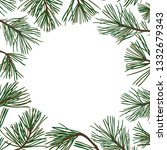 vector background with pine... | Shutterstock .eps vector #1332679343
