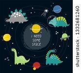 cute cartoon print with ... | Shutterstock .eps vector #1332681260