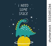 cute cartoon print with ... | Shutterstock .eps vector #1332681266