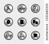 coffee machine control icons  ...