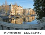 traditional dutch old buildings ... | Shutterstock . vector #1332683450