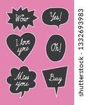 vector bubbles speech set. hand ...   Shutterstock .eps vector #1332693983