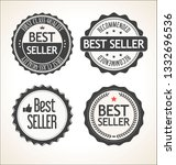 best seller retro vintage badge ... | Shutterstock .eps vector #1332696536