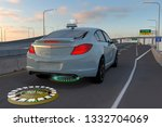 smart car with wireless... | Shutterstock . vector #1332704069