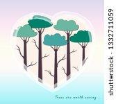 trees worth saving   Shutterstock .eps vector #1332711059