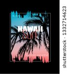 colorful poster with palm trees ...   Shutterstock .eps vector #1332714623