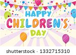 happy children's day. colorful...   Shutterstock .eps vector #1332715310