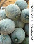 stack of honey dew melon... | Shutterstock . vector #1332718280