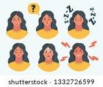 vector cartoon illustration of... | Shutterstock .eps vector #1332726599