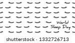 world sleep day march 14 dream... | Shutterstock .eps vector #1332726713