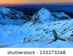 sunset over the snowy mountains | Shutterstock . vector #133273268