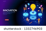 banner innovation concept.... | Shutterstock .eps vector #1332746903