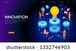 banner innovation concept....   Shutterstock .eps vector #1332746903