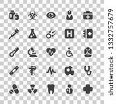 medical icons set simple flat... | Shutterstock .eps vector #1332757679