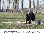 young lonely depressed and... | Shutterstock . vector #1332778199