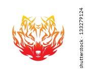 fire wolf   vector illustration | Shutterstock .eps vector #133279124