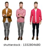 collage of handsome young...   Shutterstock . vector #1332804680