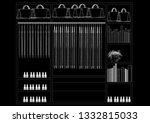 closet organizer design... | Shutterstock . vector #1332815033