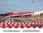 abu dhabi  uae   march 9  2019  ...   Shutterstock . vector #1332828983