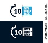 10 days money back sign. modern ... | Shutterstock .eps vector #1332835583