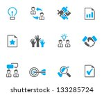management icon series  in duo... | Shutterstock .eps vector #133285724