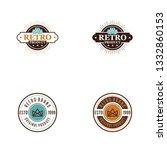 retro logo concept   Shutterstock .eps vector #1332860153